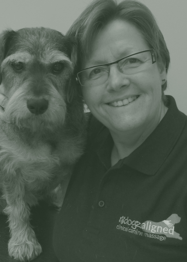 Lynn Pearce with one of her dogs, Poppy